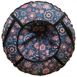 Тюбинг Prosport Цветы на синем (с камерой)