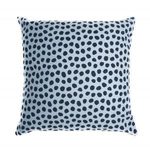 Чехол для подушки из хлопка с принтом Funky dots, серо-голубой