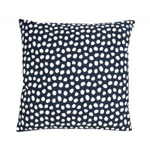 Чехол для подушки из хлопка с принтом Funky dots, темно-серый