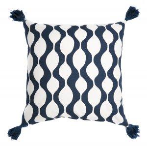 Чехол для подушки с кисточками Traffic, серо-синего цвета