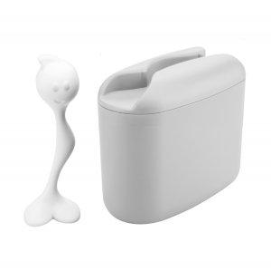 Контейнер для хранения продуктов с ложкой HOT STUFF M, 350гр, серый