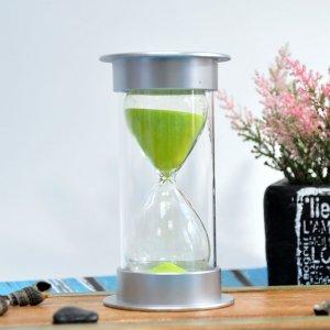 Песочные часы 15 минут (салатовый песок)