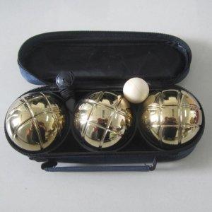 Набор шаров для петанка золотой, 3 штуки