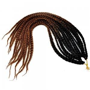 Канекалон SE косы Черно-коричневый двухцветный 6, 110 гр 65 см