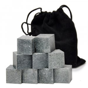 Камни для виски ZAP Whiskey Stones, 9 шт в бархатном мешочке