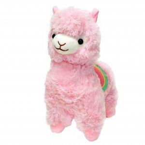 """Мягкая игрушка """"Альпака Fluffy"""" 35 см розовая"""
