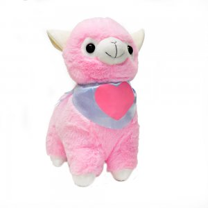 """Мягкая игрушка """"Альпака в бандане"""" 30 см розовая"""