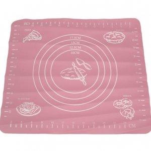 Силиконовый коврик для Полиморфуса с разлиновкой 28x25,5 см малый розовый