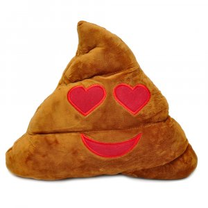 "Подушка Emoji ""Heart Eyes Poop Emoji"" 35 см"