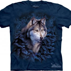 Детская Футболка Wolf in Blue Foliage