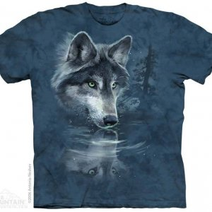 Детская Футболка Wolf Reflection